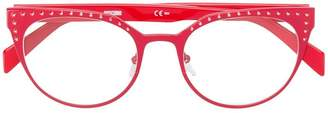 Moschino cat eye frame glasses