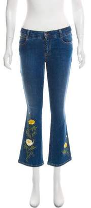 Stella McCartney Embroidered Mid-Rise Jeans