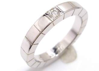 Cartier Lanieres 18K White Gold & Diamond Ring Size 4.25