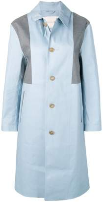 MACKINTOSH Placid Blue & Top Grey Bonded Cotton Coat LR-089/CB