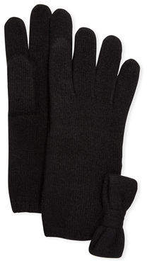 Portolano Cashmere Jersey Bow Gloves