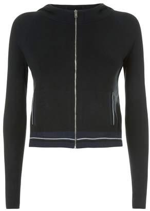 La Perla Silk Soul Black Silk Knit Long Sleeved Hooded Sweater