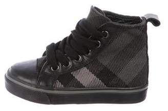 Burberry Boys' Supernova Check Sneakers