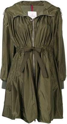 Moncler tie waist rain coat