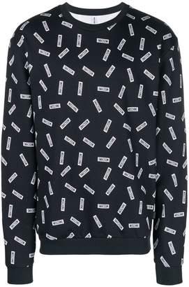Moschino multiple logo sweatshirt