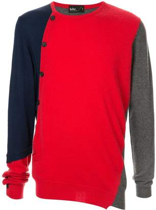 Kolor colour-block fitted sweater