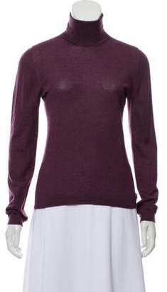 Bottega Veneta Cashmere Turtleneck Sweater Plum Cashmere Turtleneck Sweater