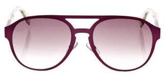 Fendi Metallic Logo Sunglasses