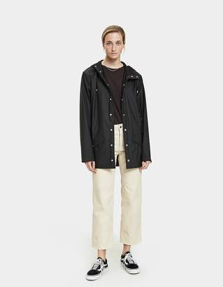 Rains Rain Jacket with Glossy Back Panel in Black