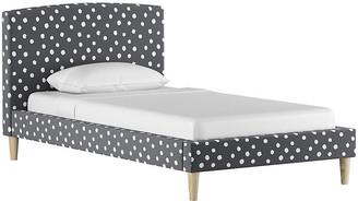One Kings Lane Sloan Kids' Bed - Gray/White Linen