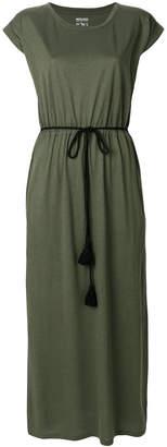 Woolrich belted jersey maxi dress