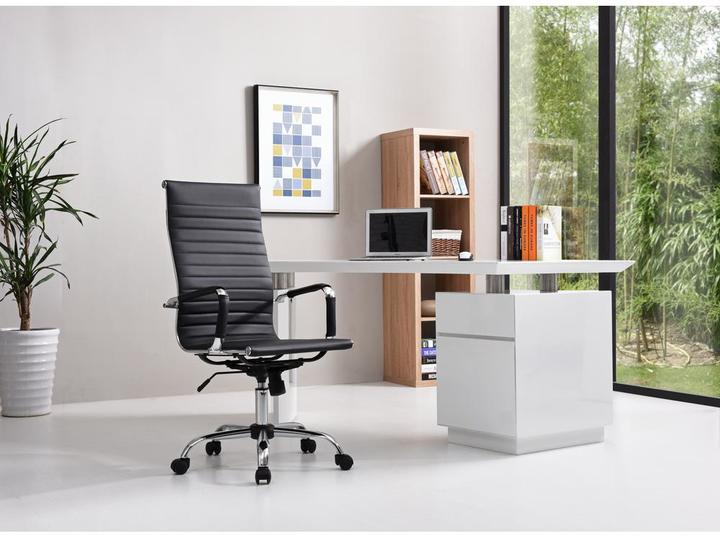 PU Leather High Back Executive Office Chair in Black