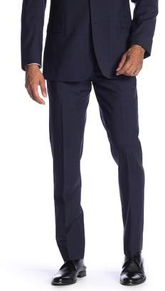 "Brooks Brothers Navy Plaid Wool Classic Fit Separates Trousers - 30-34"" Inseam"