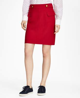 Brooks Brothers A-Line Wool-Blend Skirt