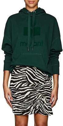 Etoile Isabel Marant Women's Mansel Logo Cotton-Blend Fleece Hoodie