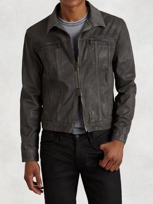 Denim Style Zip Jacket $298 thestylecure.com