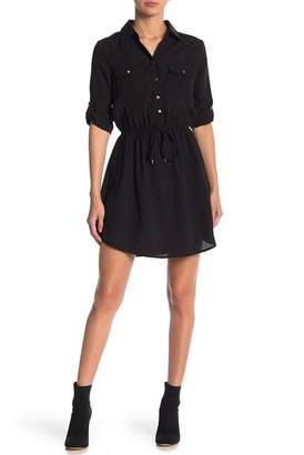 BE BOP Long Roll Up Sleeve Shirt Dress