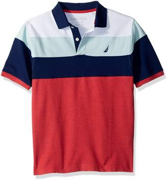 Nautica Toddler Boys' Short Sleeve Colorblock Polo with Stretch