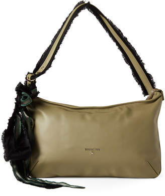 Patrizia Pepe Daily Green Leather Borsa Bag