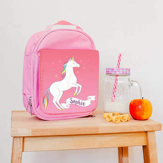 The Little Picture Company Children's Personalised Magical Unicorn Lunch Bag