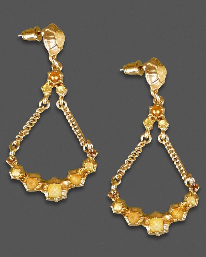 Jessica Simpson Earrings, Goldtone Chandelier