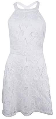 GUESS Women's Cotton Lace Floral Halter Dress