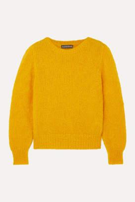 ALEXACHUNG Mohair-blend Sweater - Mustard