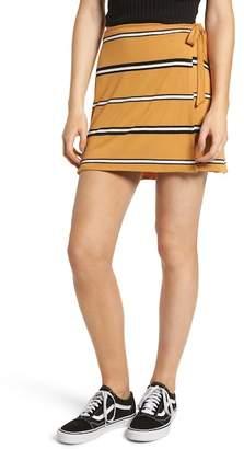 BP Stripe Wrap Miniskirt