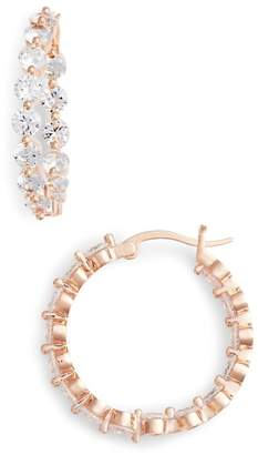 Nina Medium Cubic Zirconia Hoop Earrings