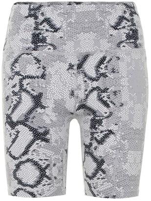 Varley Louise snake-print shorts