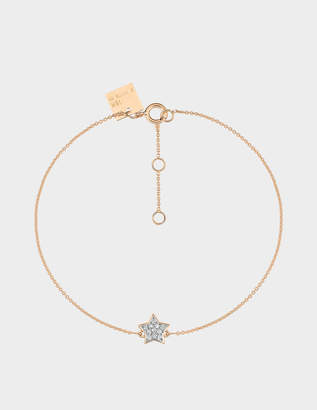 ginette_ny Tiny Diamond Star Bracelet in 18K Rose Gold and Diamonds