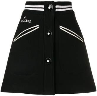 Miu Miu (ミュウミュウ) - Miu Miu コントラスト Aラインスカート