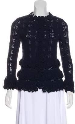 Oscar de la Renta Long Sleeve Crocheted Cardigan w/ Tags