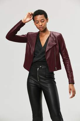 Veda Dali Orion Leather Jacket Merlot
