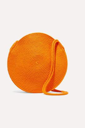 Catzorange - Circle Small Woven Cotton Shoulder Bag - one size