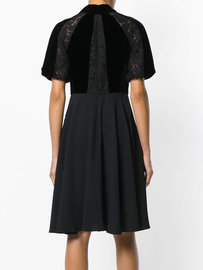 Valentino lace panel dress