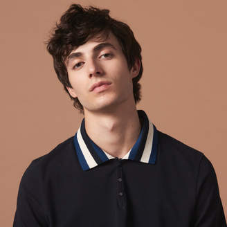 Sandro Polo shirt with varsity-style collar