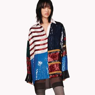 Tommy Hilfiger Sequined Rugby Stripe Dress