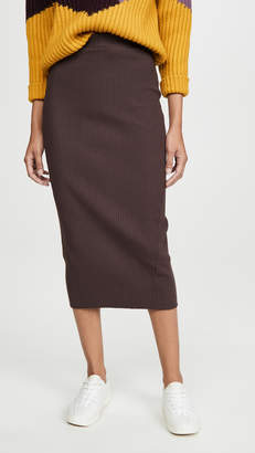 Stateside Heavy Rib Midi Skirt