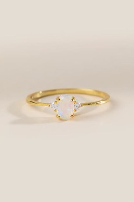 francesca's Abigail Opal Ring - Gold