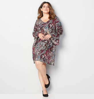 Avenue Abstract Paisley A-Line Dress