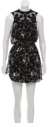 Joie Floral Print Mini Dress