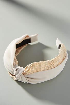 Anthropologie Raffia Twist Headband