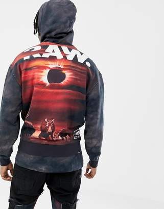 G Star G-Star x Jaden Smith eclipse back print hoodie in black