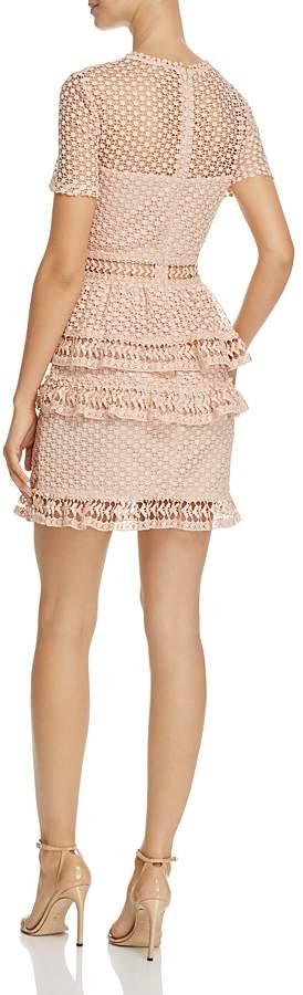 AQUA Dot Lace Tiered Dress - 100% Exclusive 3