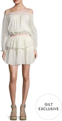 LoveShackFancy Loveshack Fancy Women's Smocked Ruffle Mini Dress