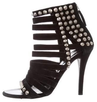 Balmain Giuseppe Zanotti x Studded Suede Sandals