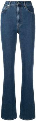 Helmut Lang Femme high waisted bootcut jeans
