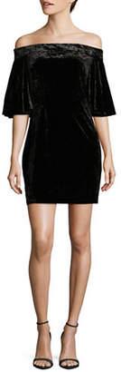 Cynthia Steffe Velvet Off-The-Shoulder Dress