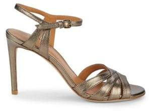 Stuart Weitzman Stiletto Heel Leather Sandals
